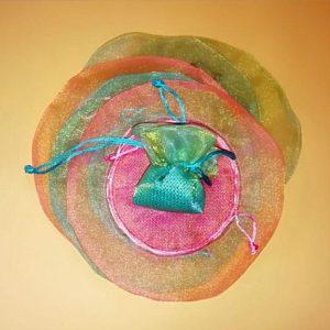 Πουγκακια Χρωματιστά  6 τεμαχίων